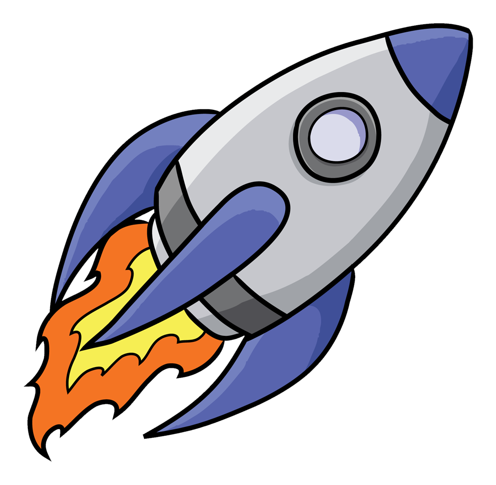 Animated Rocket Space.