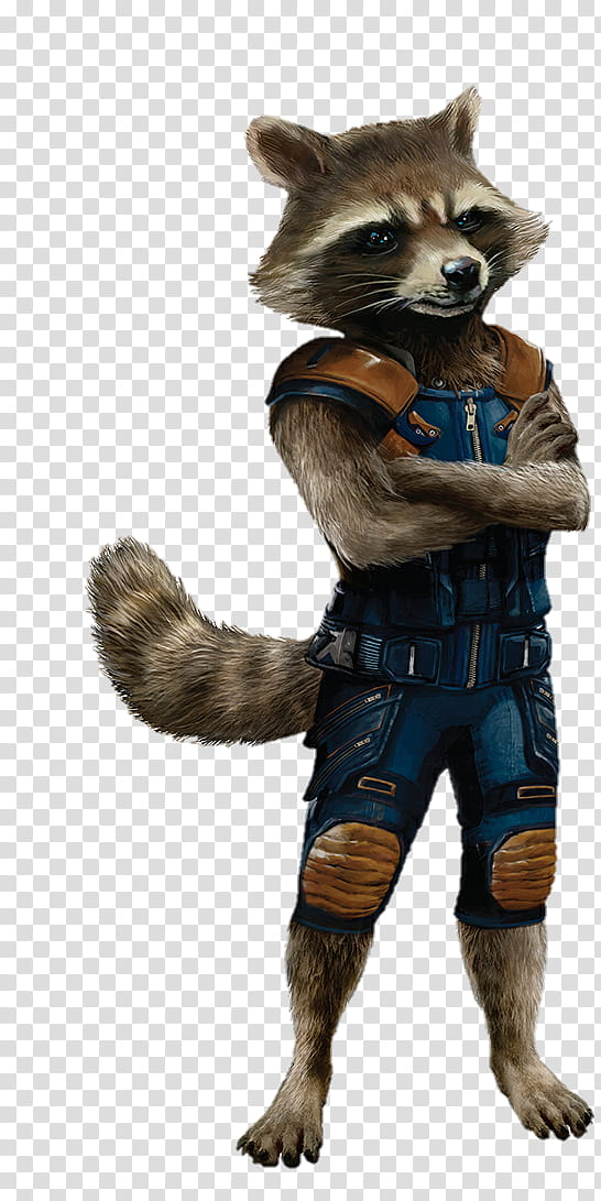 Guardians of the Galaxy Vol Rocket transparent background.
