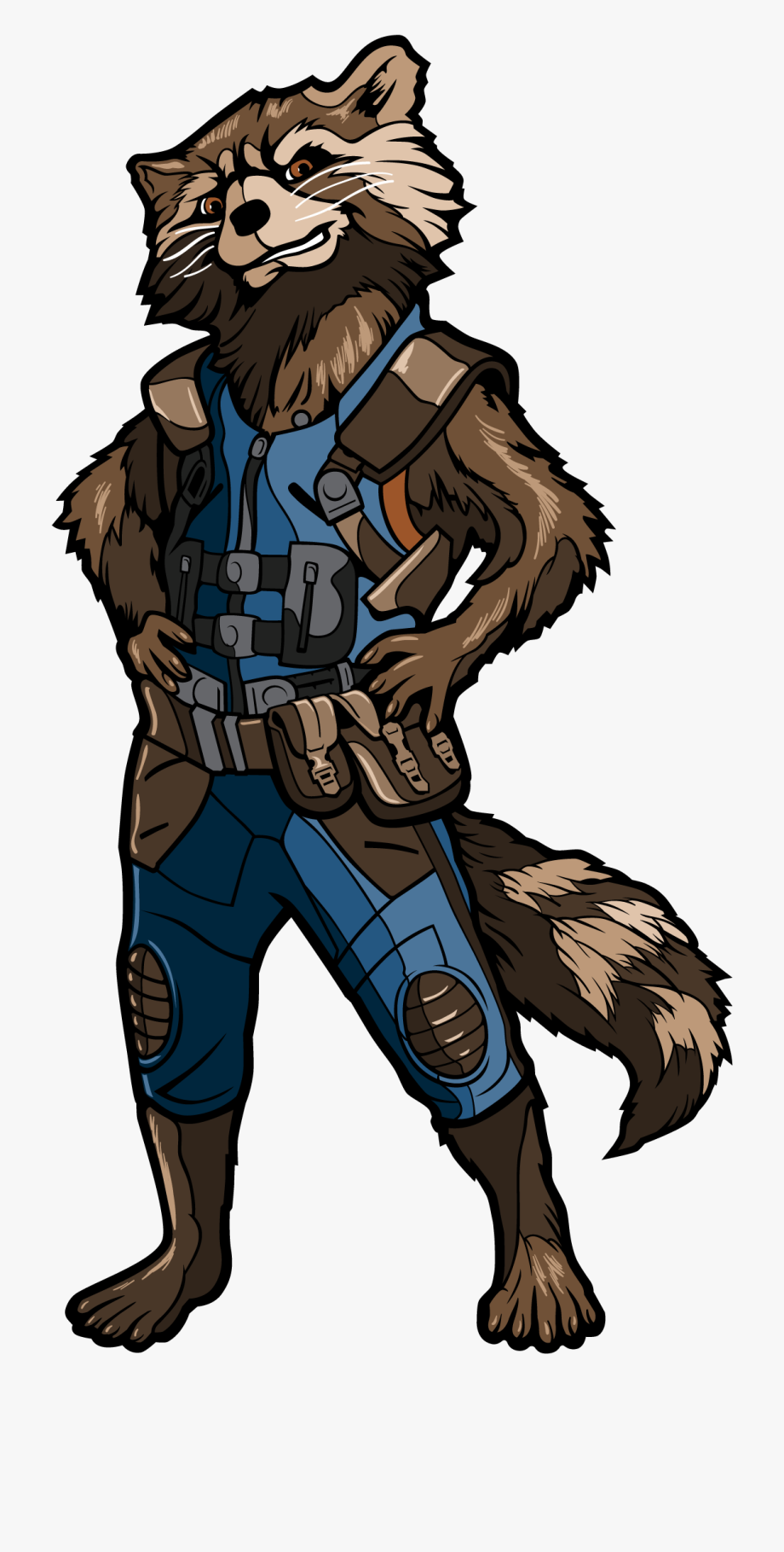 Rocket Raccoon From Endgame, Cliparts & Cartoons.