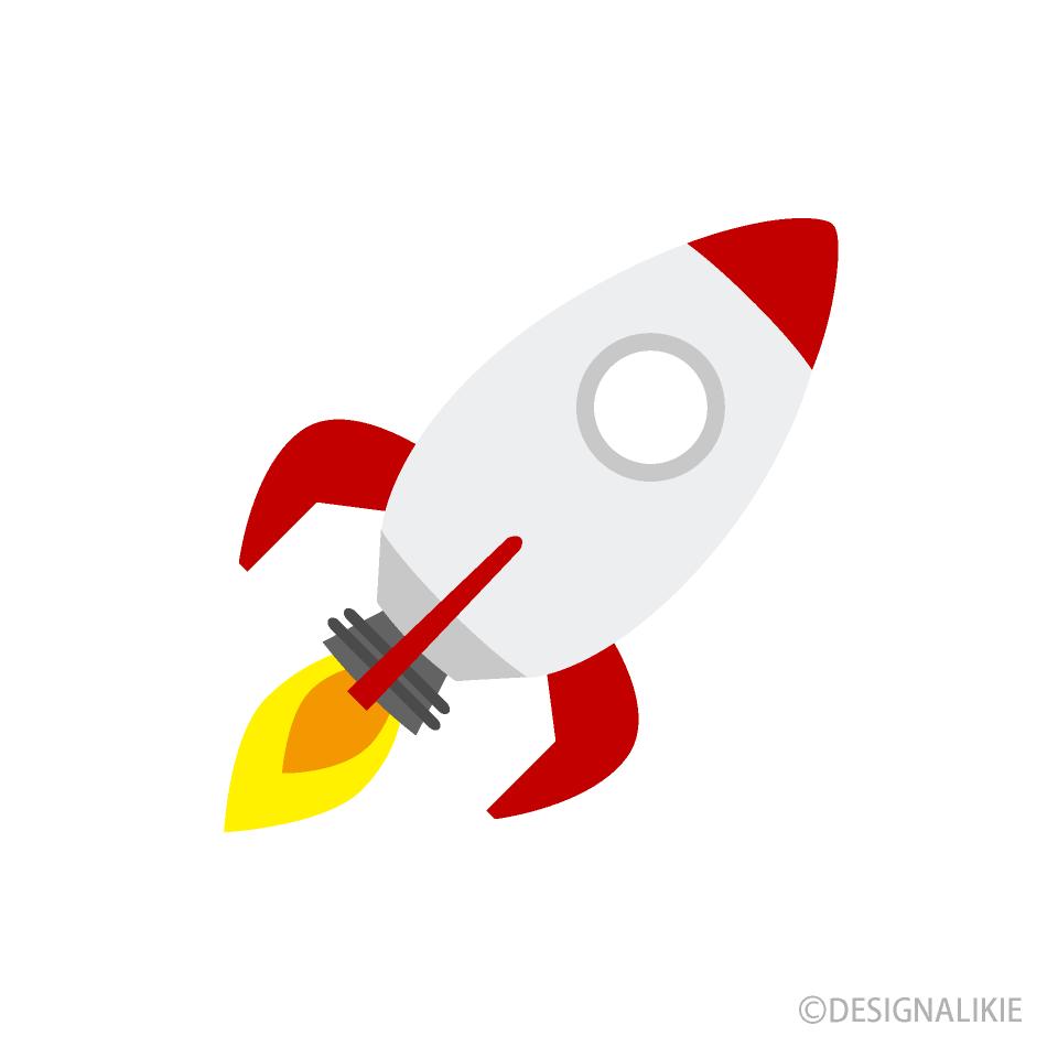 Free Flying Rocket Clipart Image|Illustoon.