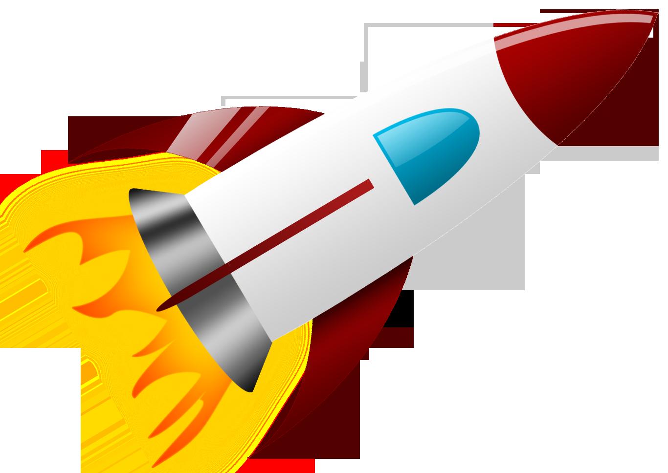 Clipart Rocket PNG Image.