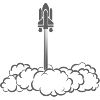 Rocket smoke clipart.