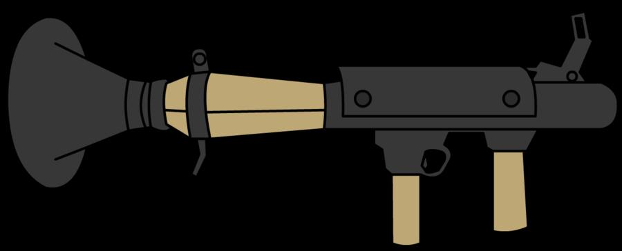 Rocket launcher clipart.