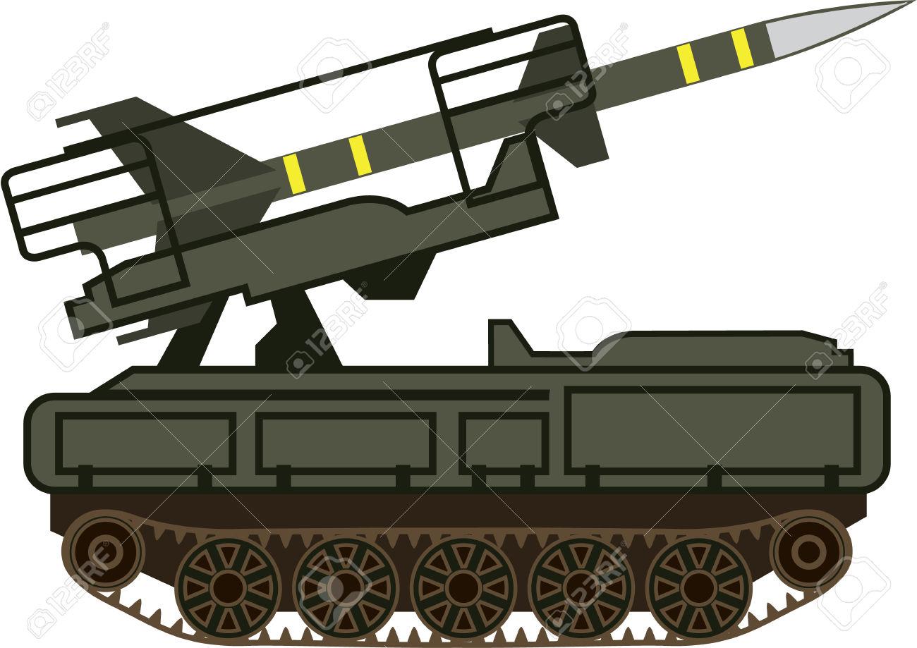 Rocket Launcher Vector Illustration Clip.