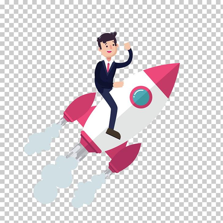 Website Service Rocket Man, rocket rocket, man riding on.
