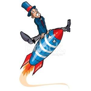Rocket man Clipart Image.