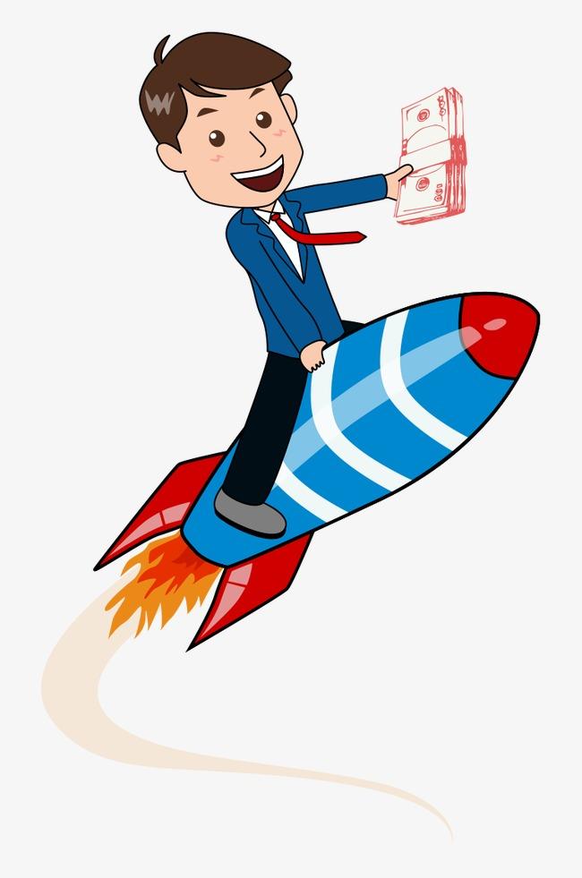 Rocket Man Clipart.