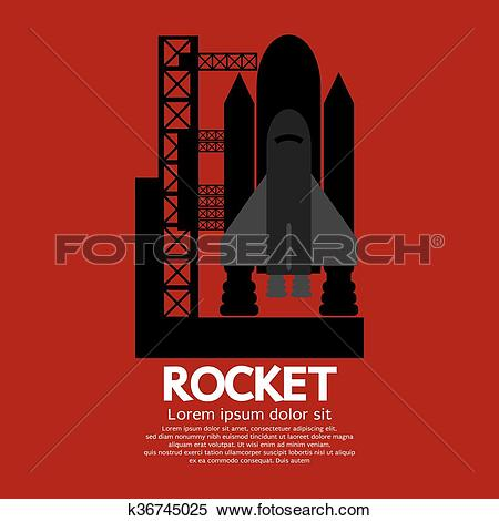 Clipart of Rocket Taking Off On A Mission. k36745025.