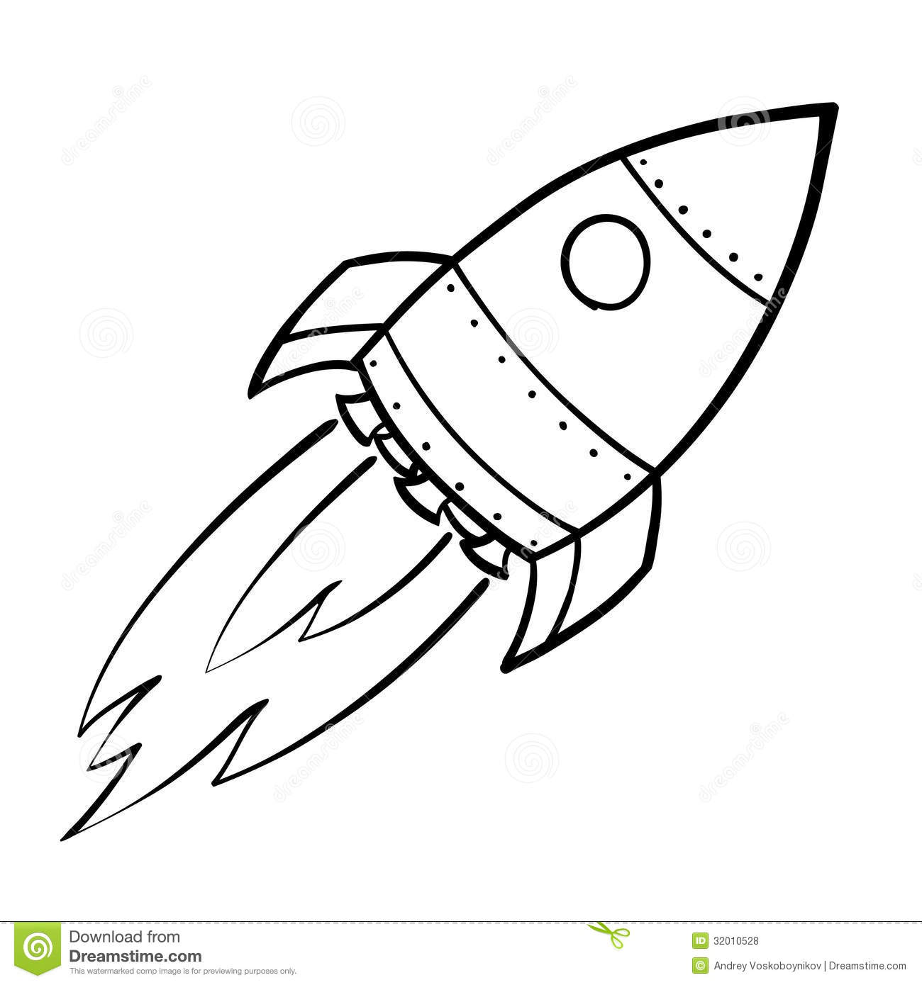 Rocket Ship Outline With Rocket Outline Clip Art : Rocket Ship.