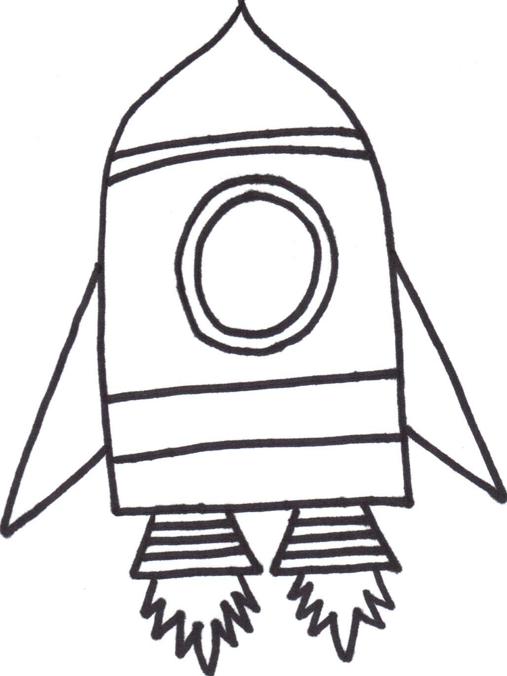 rocket outline clip art Clipground