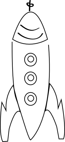 Rocket Outline Clip Art at Clker.com.