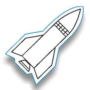 rocket outline clipart
