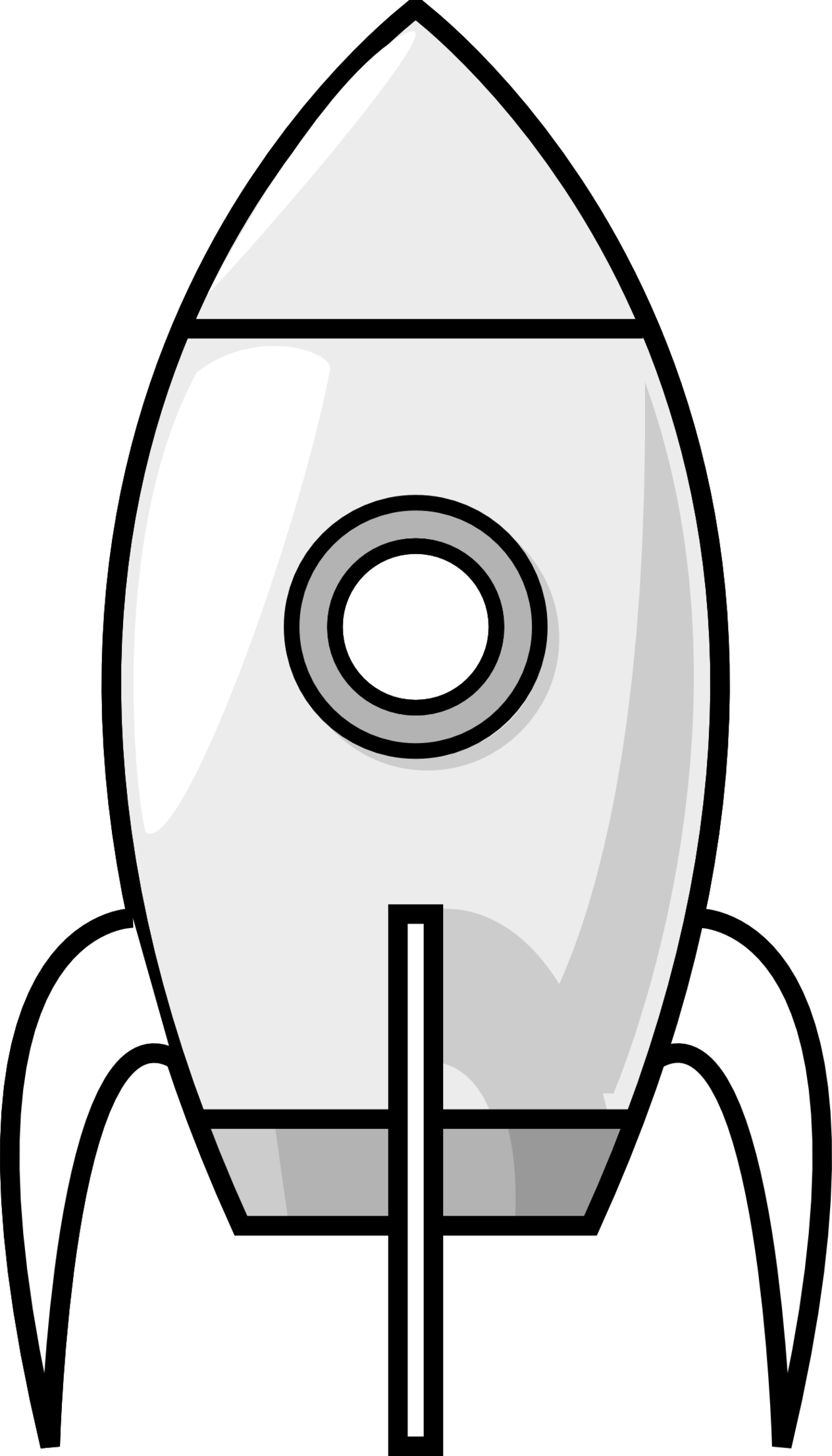 Rocket Clipart Outline.