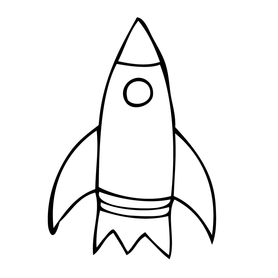 Rocket outline clip art clipground rocket outline clipart sciox Choice Image