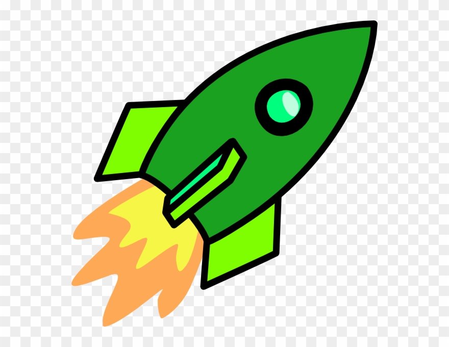 Green Rocket Clip Art.
