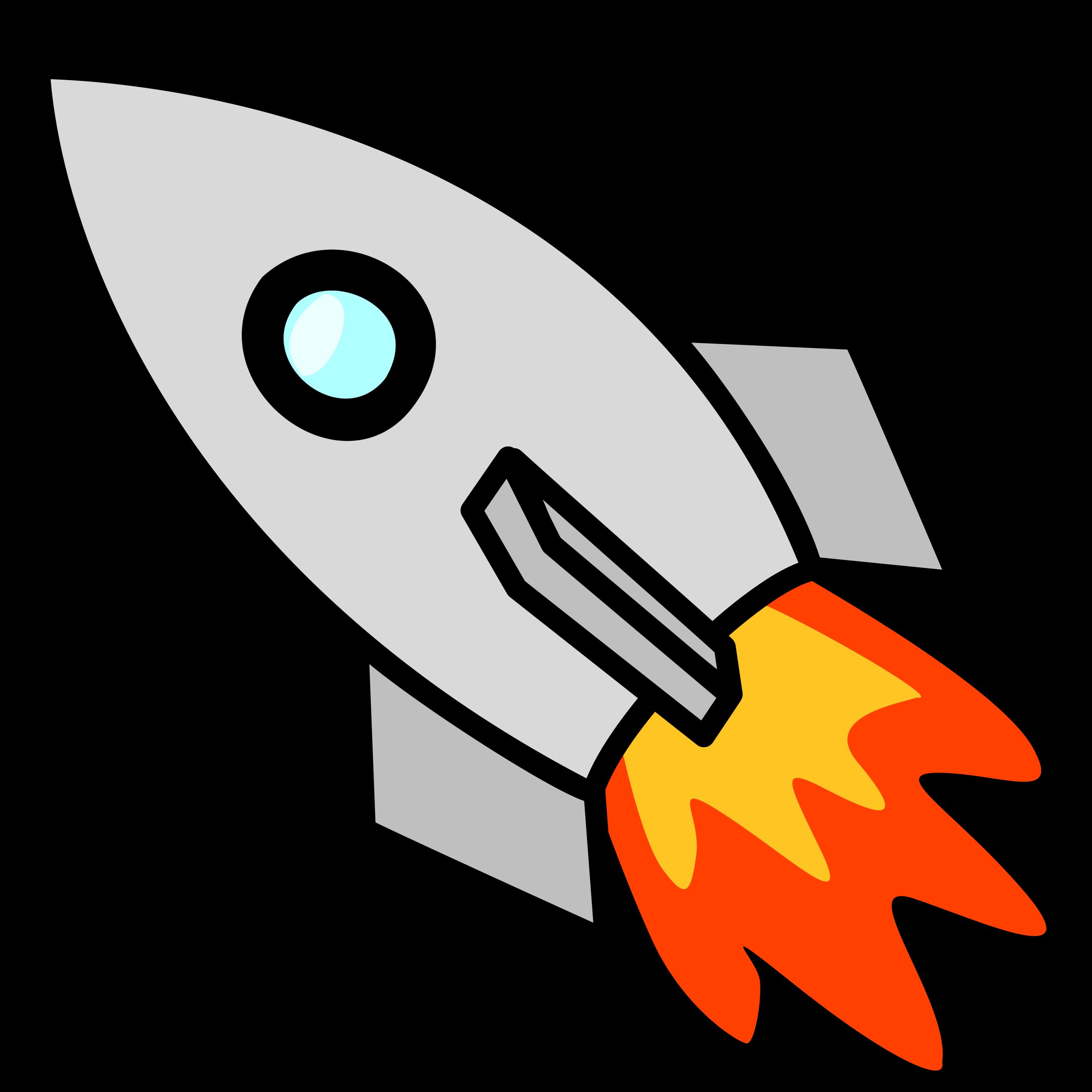 Rocket clipart with background.
