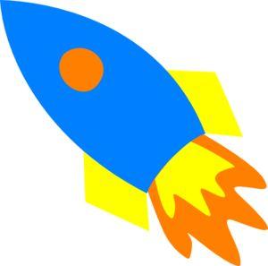 Rocket spaceship clipart.