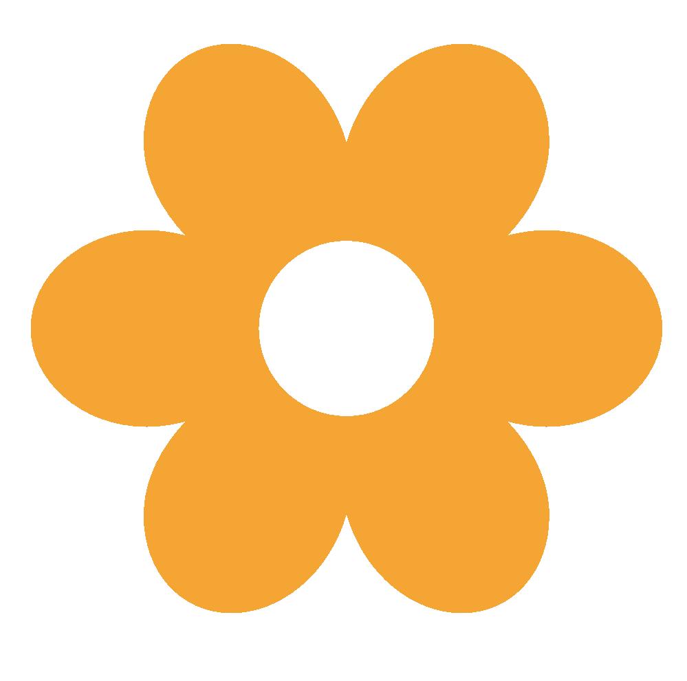 Retro Flower Clipart.