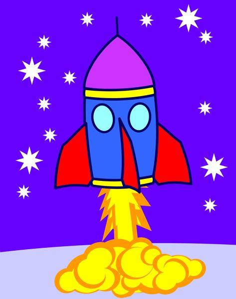 rocket ship blast off clipart - Clipground