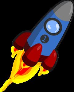 197 free rocket vector image.