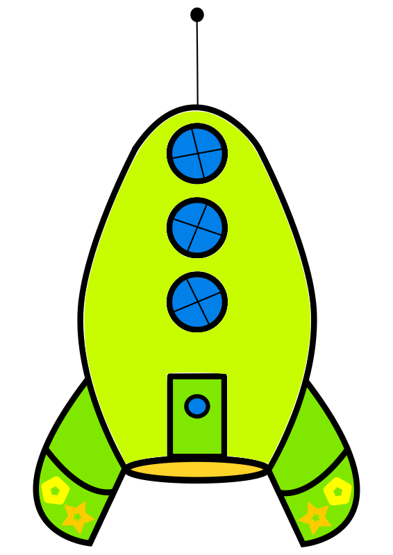 Free to Use & Public Domain Rocketship Clip Art.