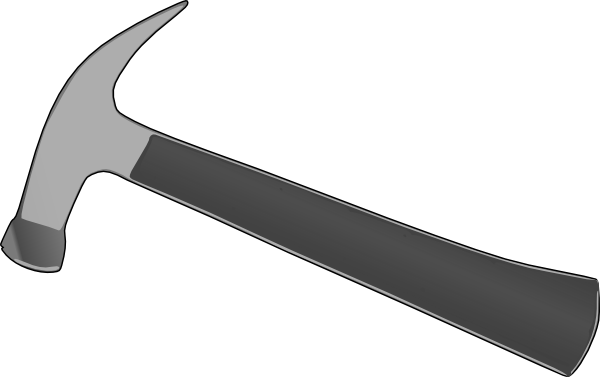 Hammer Black And White Clipart.
