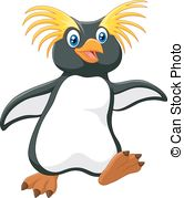 Northern rockhopper penguin Vector Clip Art Illustrations. 14.