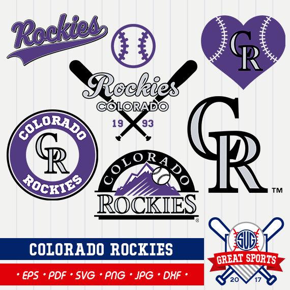Colorado Rockies SVG Rockies Clipart Colorado by GreatSportsSVG.