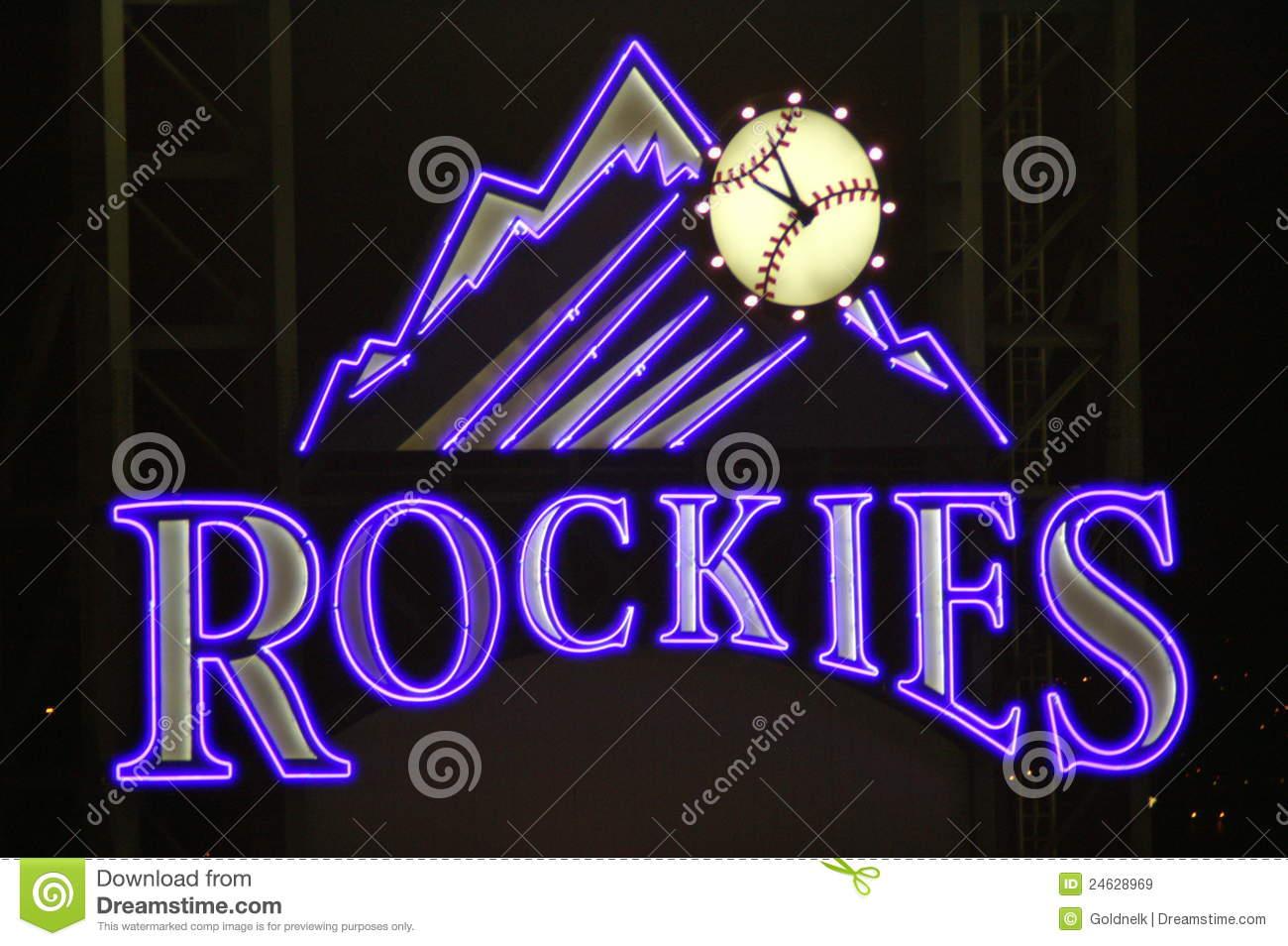 Colorado rockies baseball clipart.