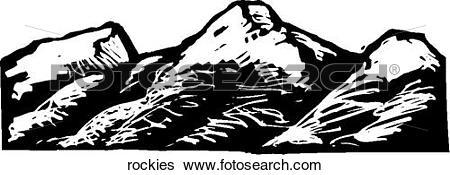 Clip Art of Rockies rockies.