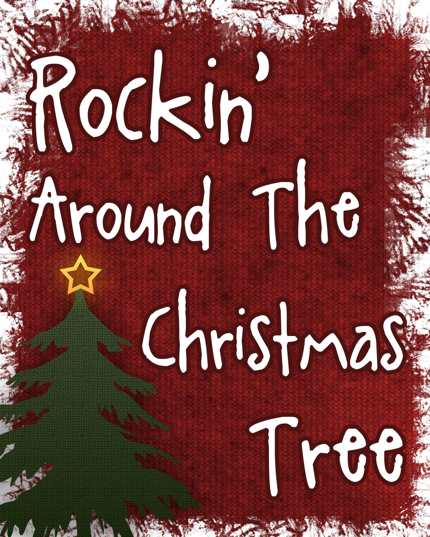 clip art rocking around the christmas.