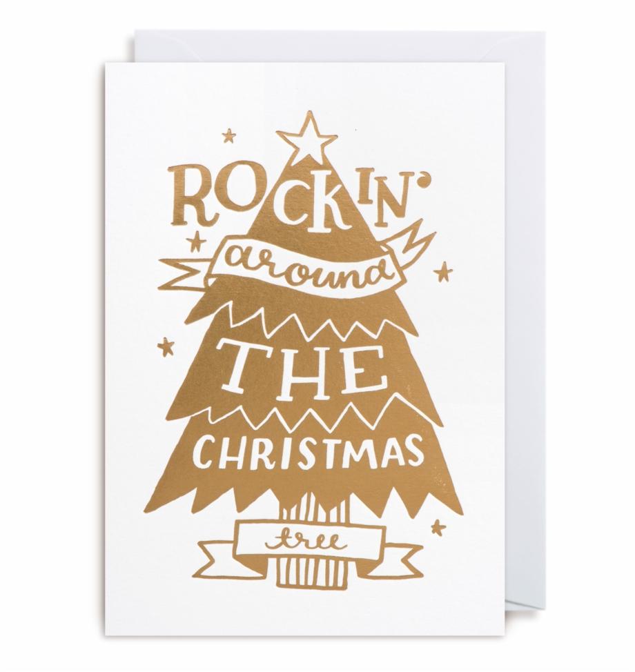 Rockin\' Around The Christmas Tree Card.