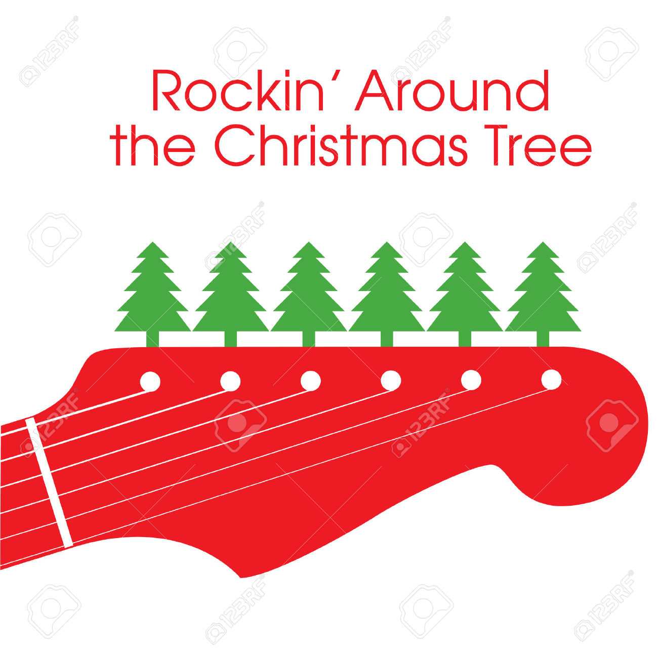 Rockin  Around The Christmas Tree Royalty Free Cliparts, Vectors.