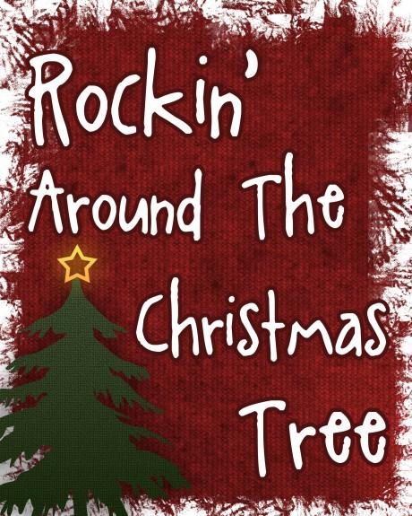 Pin Frockin Around The Christmas Tree Wallpaper on Pinterest.