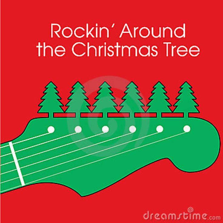 Rock N Roll Christmas Tree: Rockin Around The Christmas Tree Clipart