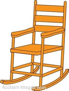 Animated rocking chair clipart.