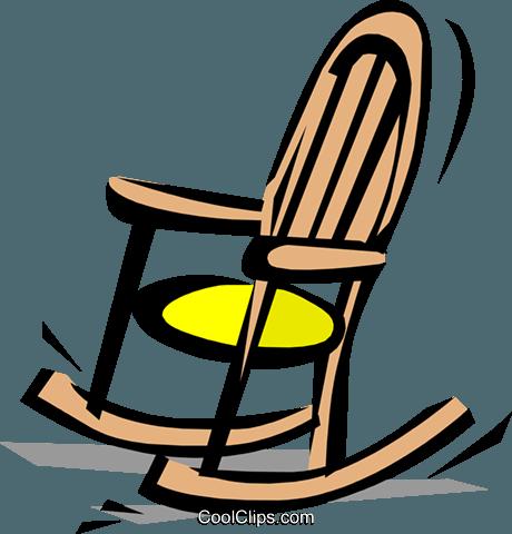 Rocking chair Royalty Free Vector Clip Art illustration.