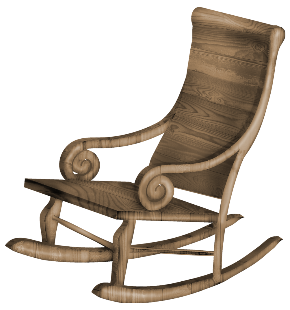 Transparent Rocking Chair PNG Clipart.