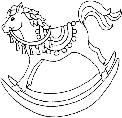 Christmas Rocking Horse Clipart.