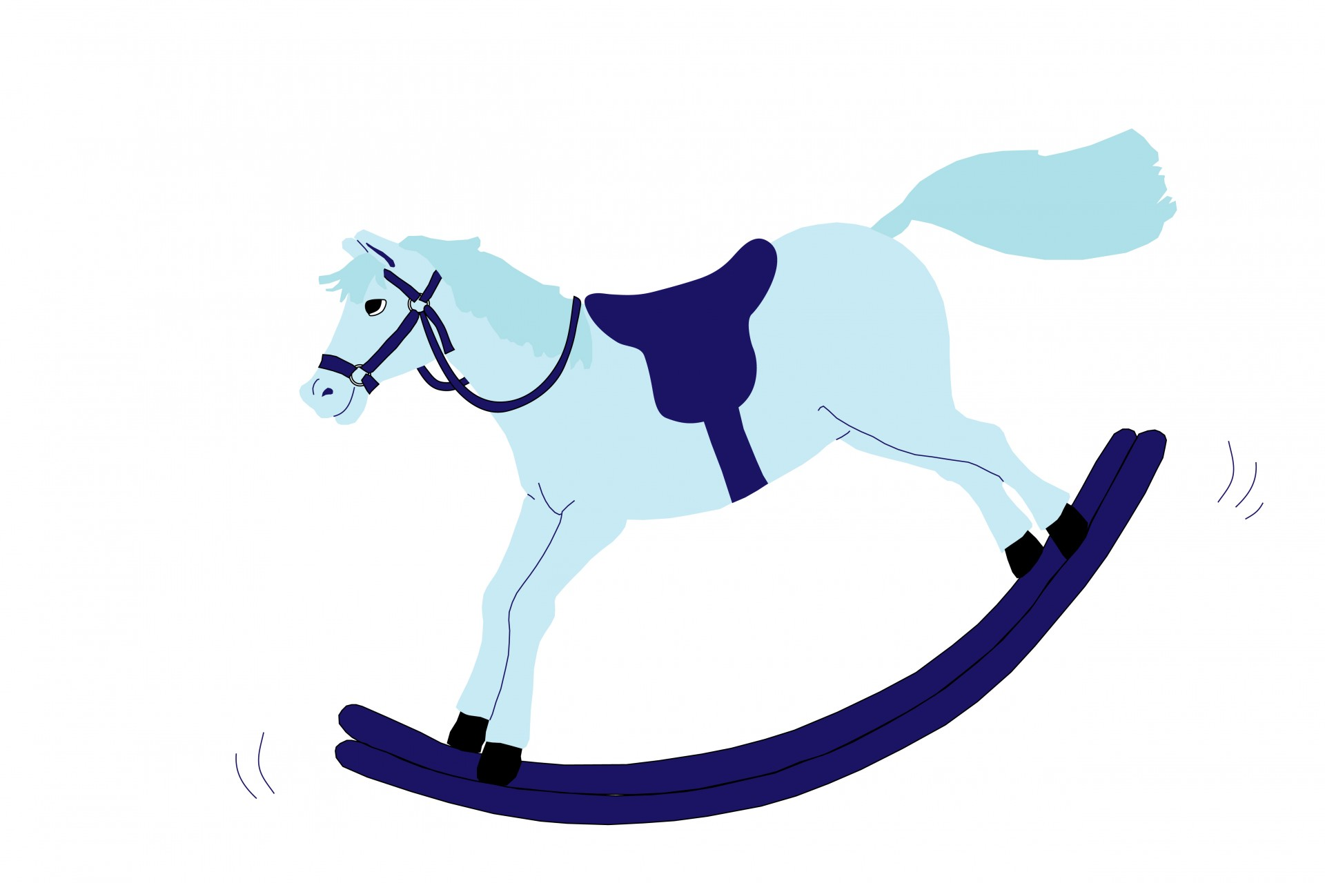 Rocking Horse Clipart Free Stock Photo.