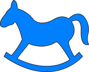 Blue Rocking Horse Clip Art at Clker.com.