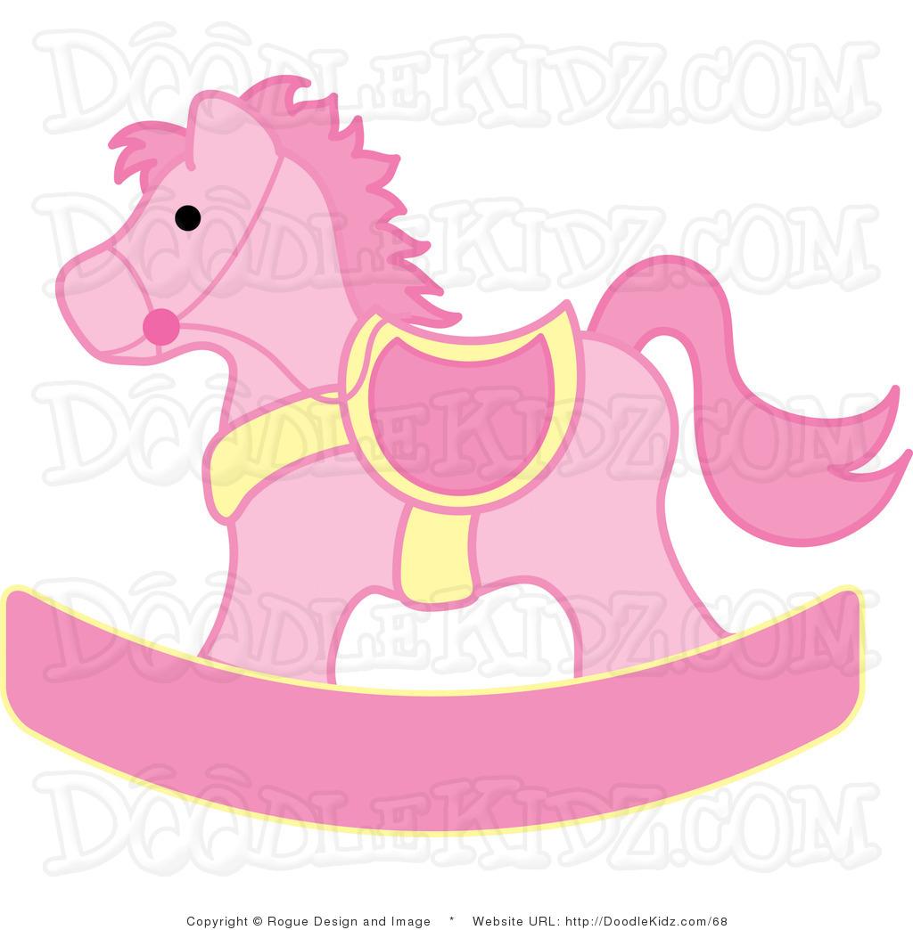 Cute rocking horse clipart.