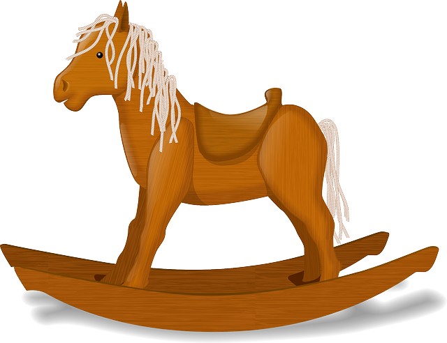 Free to Use & Public Domain Rocking Horse Clip Art.