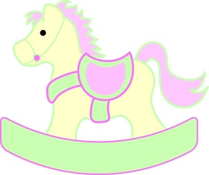 Rocking horse clipart free.
