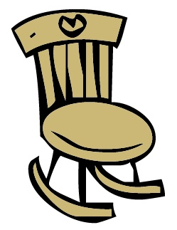 Rocking chair clipart.