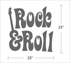 rock and roll drawings.
