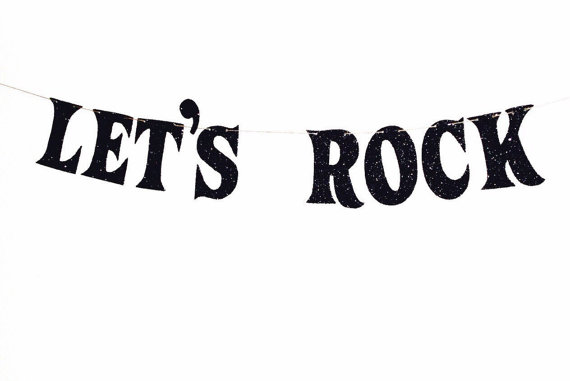 Rock n roll birthday kids clipart.