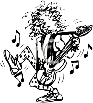 Rock And Roll Band Clipart.