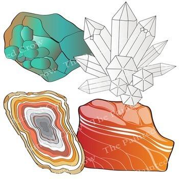 Rocks / Crystals / Minerals / Stones Clip Art.