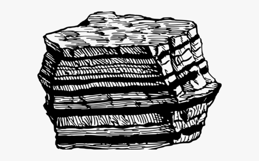 Sedimentary Rocks Black And White , Free Transparent Clipart.